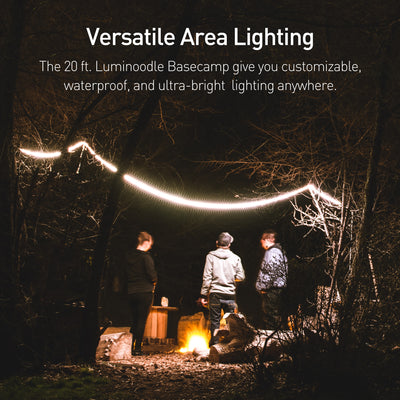 The 20 ft. Luminoodle Basecamp gives you customizable, waterproof, and ultra-bright  lighting anywhere.