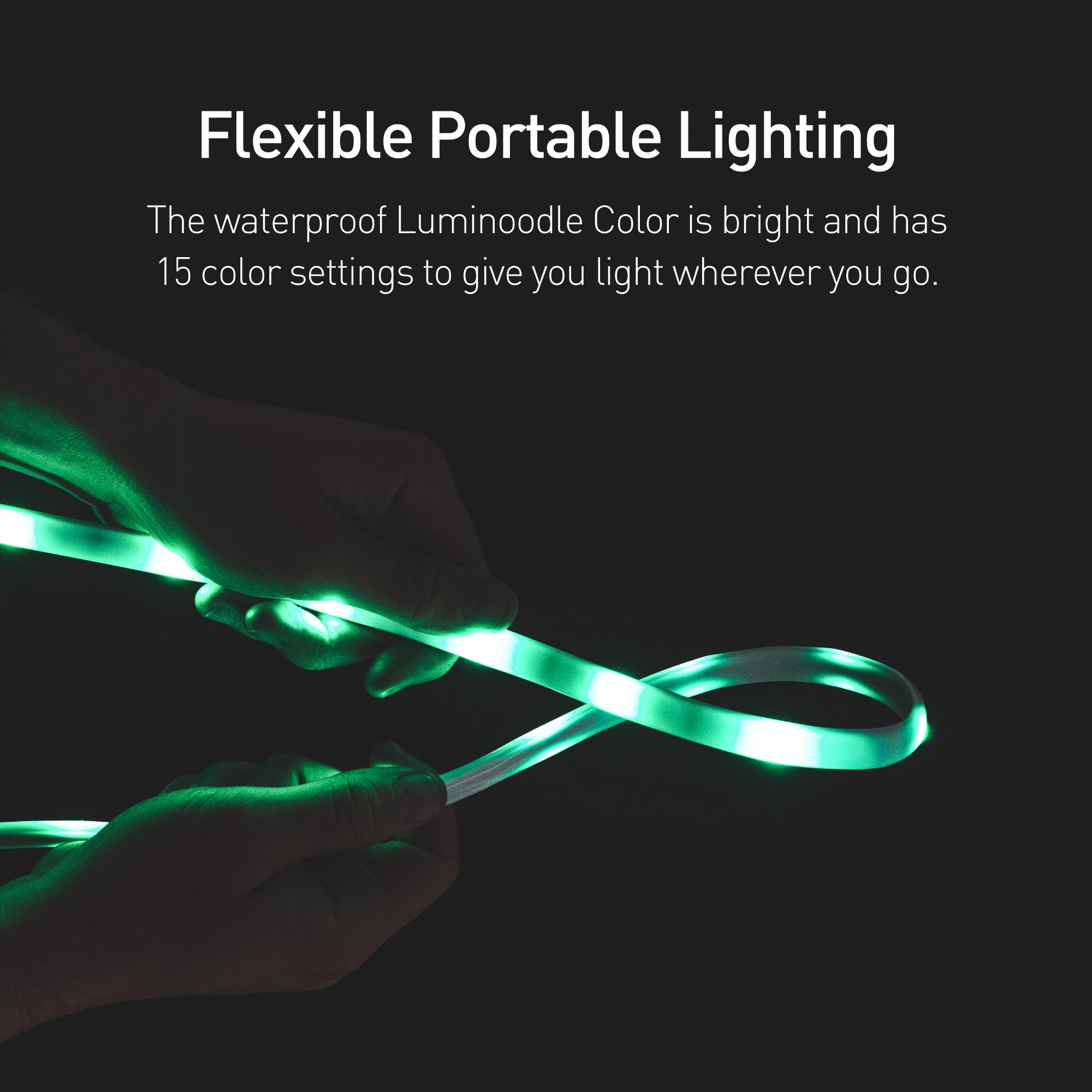 Luminoodle color waterproof led light ropes power practical luminoodle color versatile rope light and lantern kit aloadofball Images