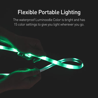 Luminoodle Color versatile rope light and lantern kit