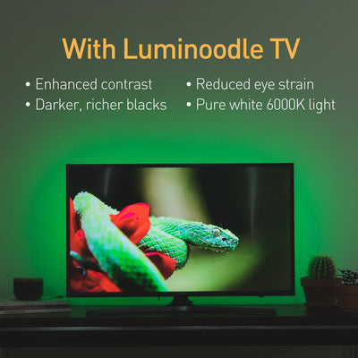 luminoodle bias lighting enhancing TV image