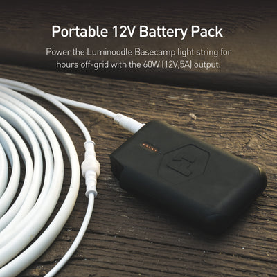 Pronto 12V has 12V output to power Luminoodle Basecamp and Luminoodle Task for hours