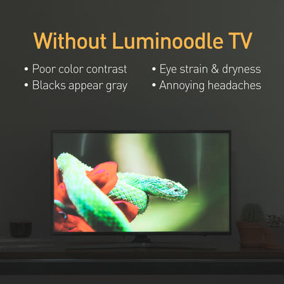 Luminoodle Color Bias Lighting - no backlight