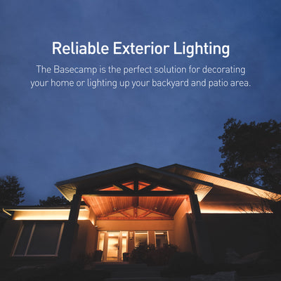 Reliable Exterior Lighting: The Basecamp is the perfect solution for decorating your home or lighting up your backyard and patio area.