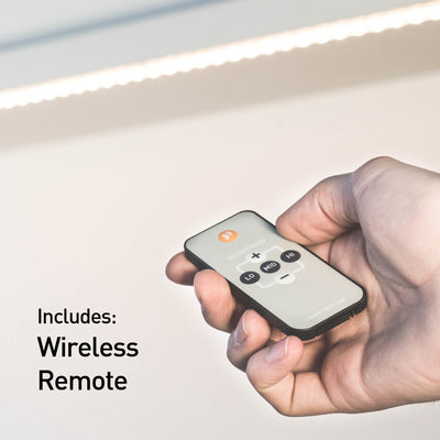 Luminoodle under cabinet LED lighting with wireless remote controls