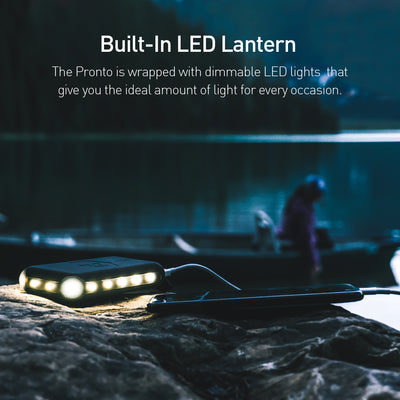 Power Practical Pronto battery pack has a built-in LED lantern Light