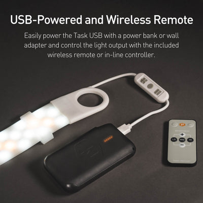 Luminoodle Task USB wireless remote and USB powered
