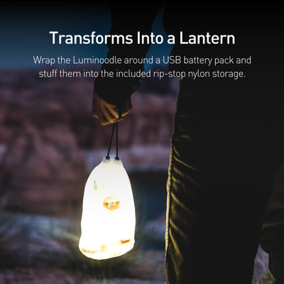 nylon carry bag that transforms your rope lights into a lantern