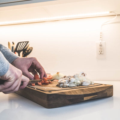 Luminoodle under-cabinet kitchen LED lighting that is USB powered