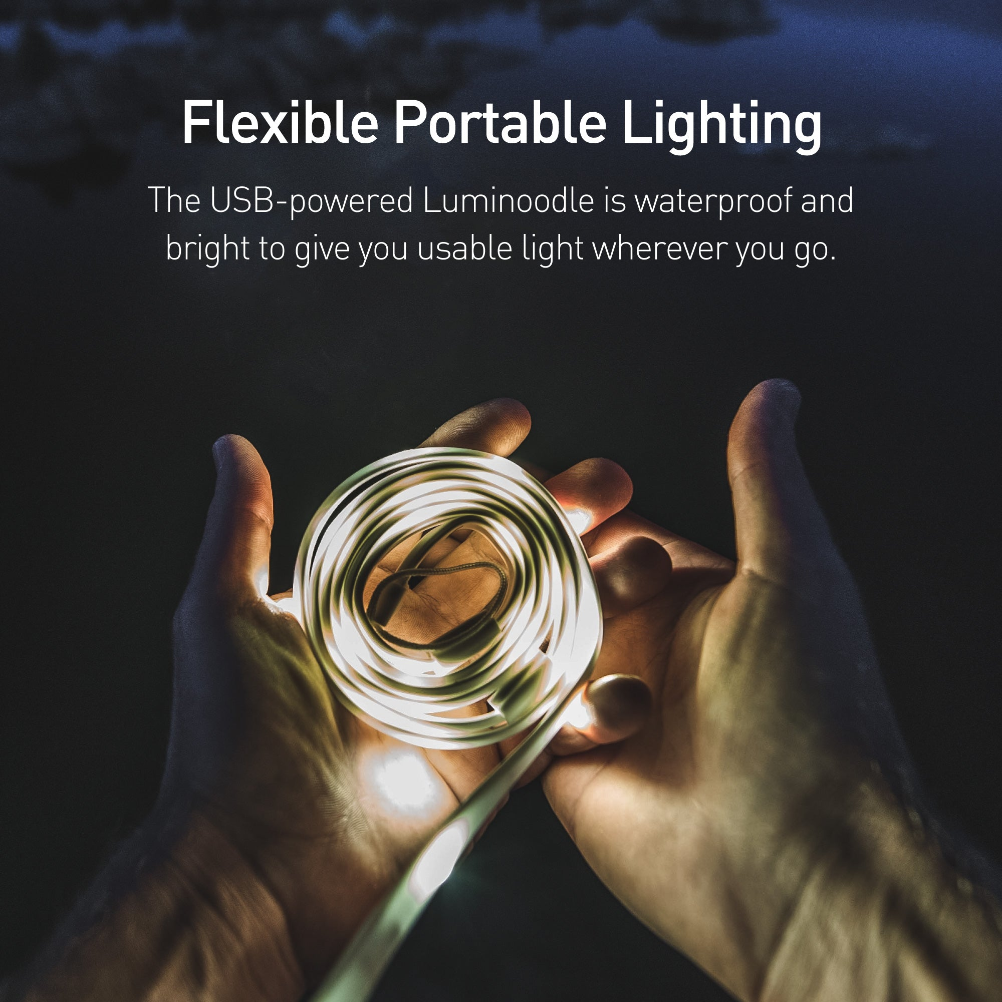Luminoodle Waterproof Led Light Rope Lantern Power Practical Of Lights And Have Them Figure Out How To Get Both Strands