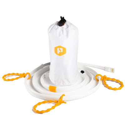 luminoodle light rope and lantern