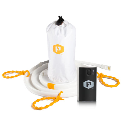 Luminoodle Light Rope and Lithium 4400 Battery Pack by Power Practical