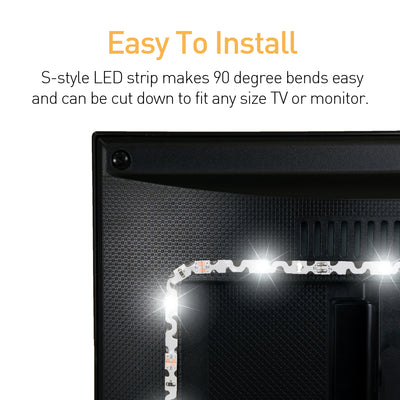 Luminoodle TV Bias lighting Easy install