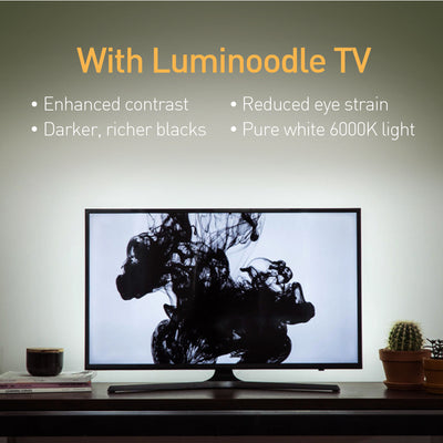Luminoodle White Bias Lighting