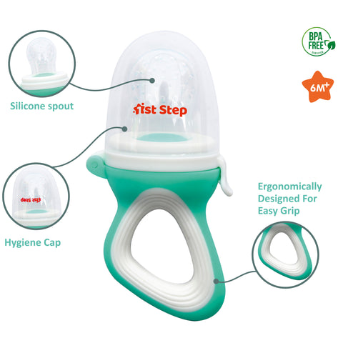 1st Step BPA Free Silicone Fruit and Food Nibbler and Feeder-Green