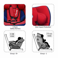 1st Step Convertible Car Seat With 5 Point Safety Harness-Red