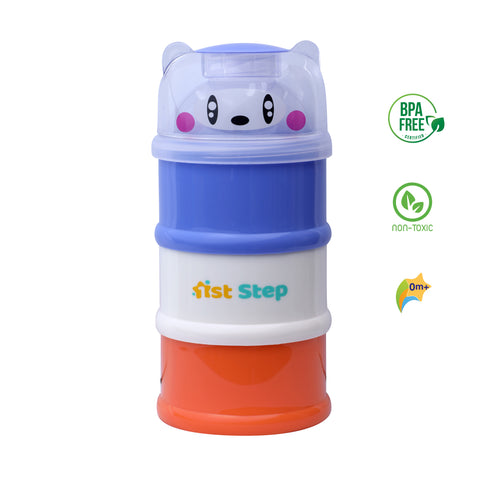 1st Step BPA Free 3 Tier Milk Powder And Food Storage Container