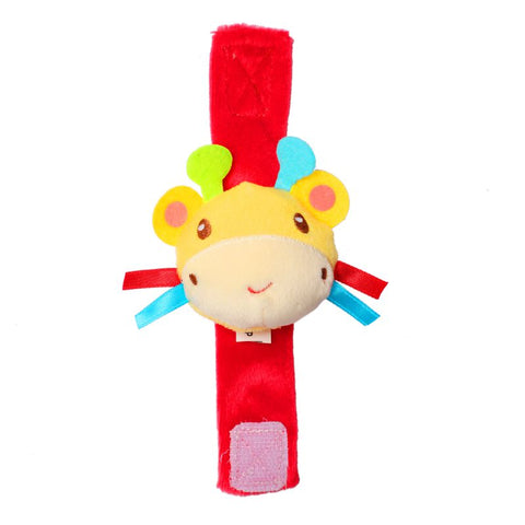 1st Step Catterpillar Face Soft Plush Wrist Rattle Cum Toy