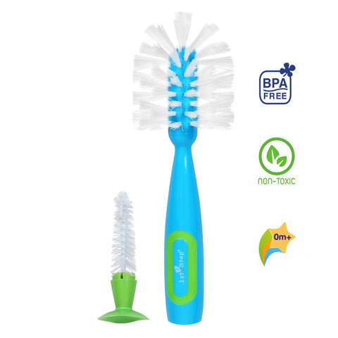 1st Step BPA Free Bottle And Nipple Cleaning Brush With Suction Base