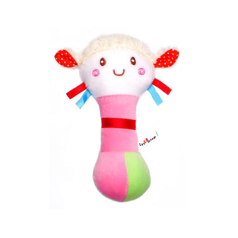 1st Step Doll Face Soft Plush Shaking Rattle Cum Toy