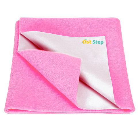 1st Step Supa - Dry Extra Absorbent Dry Sheet/Bed Protector/Mattress Protector (Pink, Extra Large (157 * 220 cm))