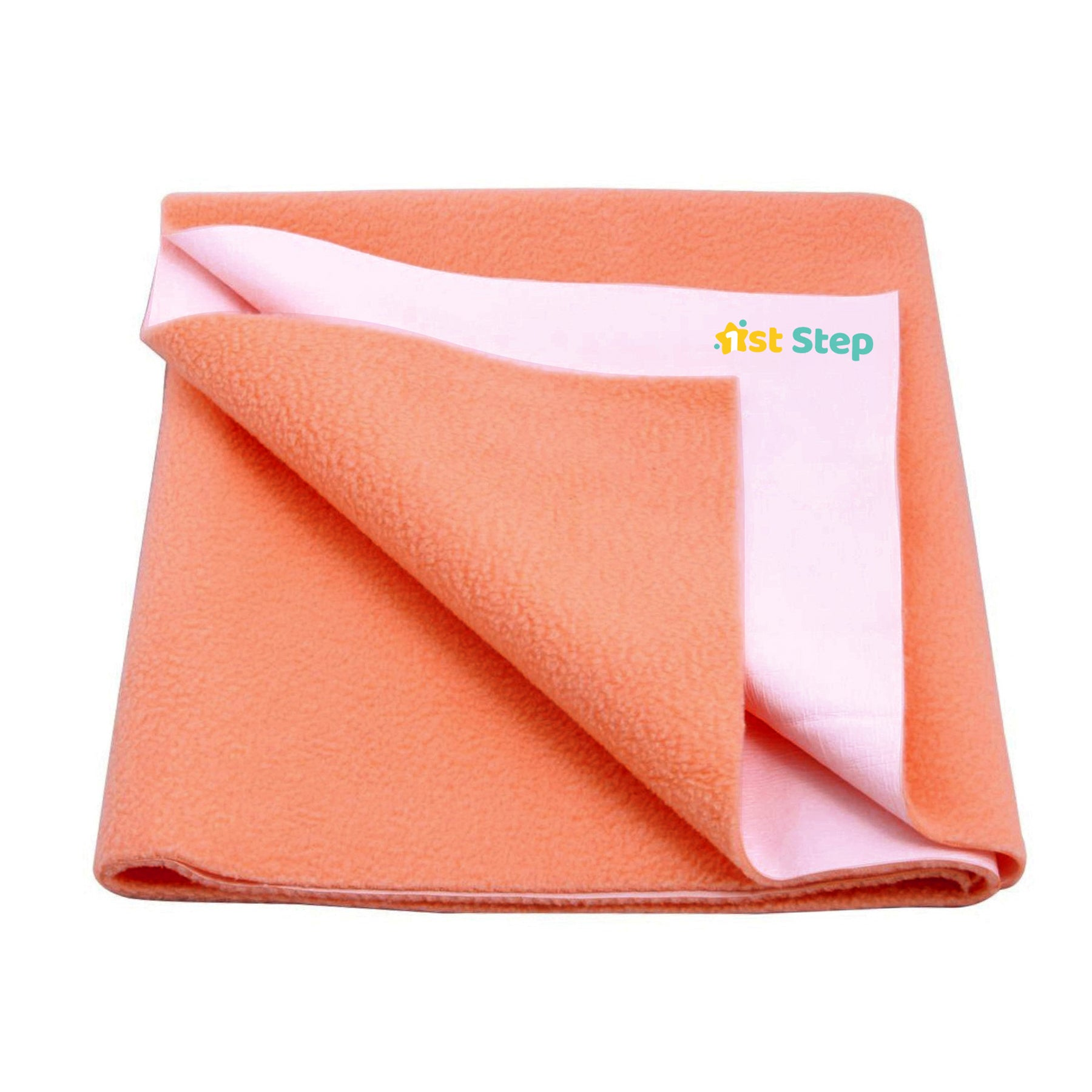 1st Step Supa - Dry Extra Absorbent Dry Sheet/Bed Protector/Mattress Protector (Orange, Large(100 * 140 cm))
