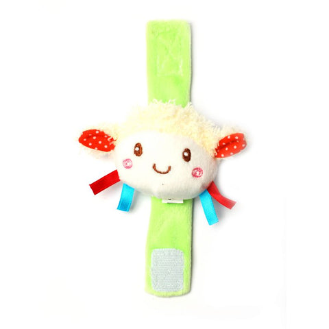 1st Step Doll Face Soft Plush Wrist Rattle Cum Toy