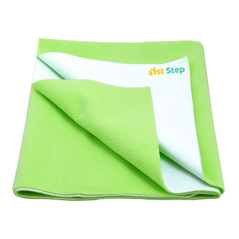 1st Step Supa - Dry Extra Absorbent Dry Sheet/Bed Protector/Mattress Protector (Green, Small (50 * 70 cm))