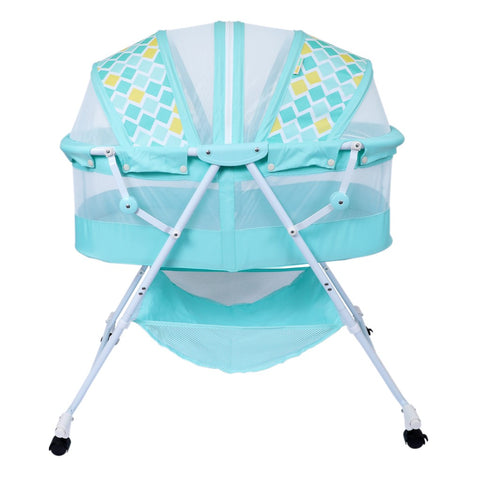 1st Step Bassinet Cum Rocker With Mosquito Net-Green