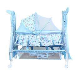 1st Step Cradle With Swing, Mosquito Net And Storage Basket-Blue