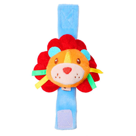1st Step Lion Face Soft Plush Wrist Rattle Cum Toy