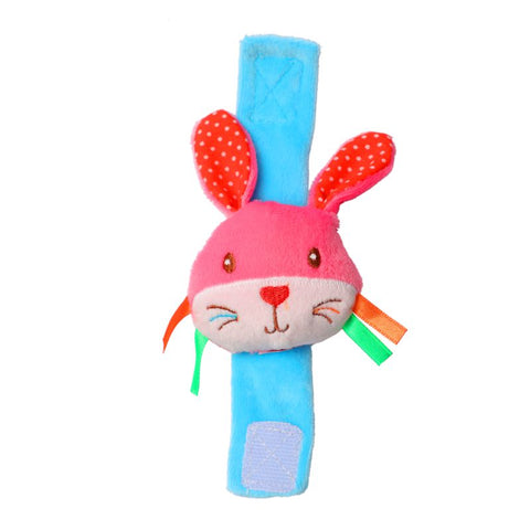 1st Step Rabbit Face Soft Plush Wrist Rattle Cum Toy