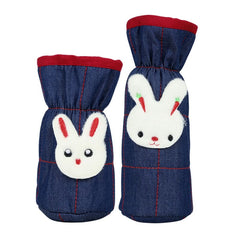 1st Step Denim Bottle Cover With Animal Face Motif (Pack Of 2)