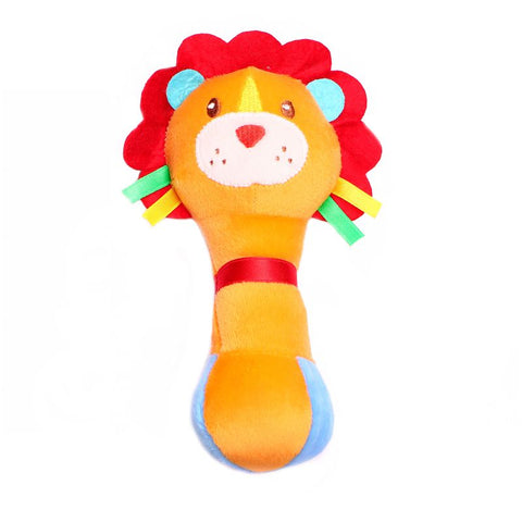 1st Step Lion Face Soft Plush Shaking Rattle Cum Toy