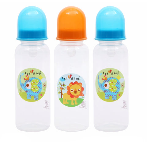 1st Step 250ml BPA Free Polypropylene Feeding Bottle - Pack Of 3