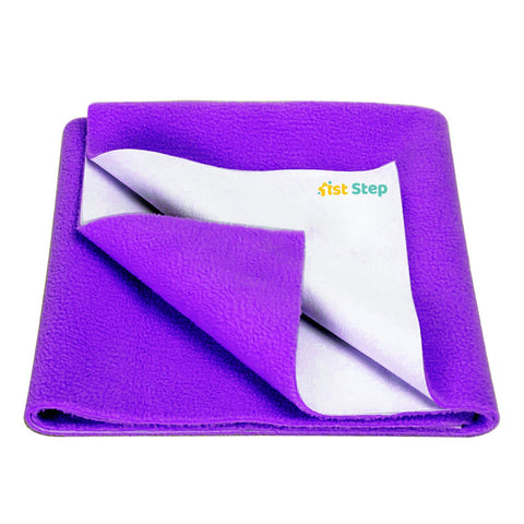 1st Step Supa - Dry Extra Absorbent Dry Sheet/Bed Protector/Mattress Protector (Purple, Extra Large (157 * 220 cm))