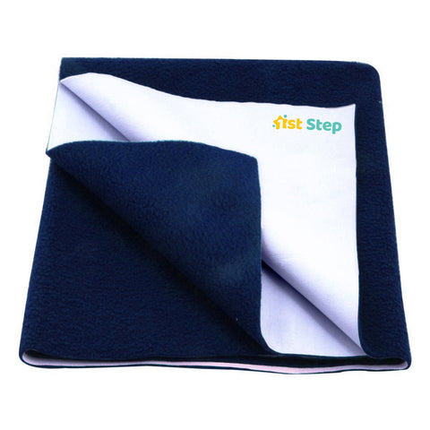 1st Step Supa - Dry Extra Absorbent Dry Sheet/Bed Protector/Mattress Protector (Blue, Large(100 * 140 cm))