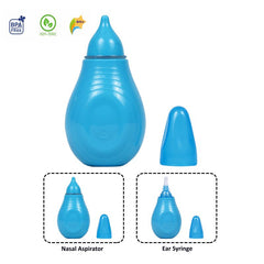 1st Step BPA Free Nasal Aspirator With Ear Syringe -Blue
