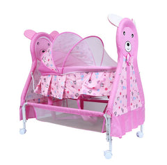 1st Step Cradle With Swing, Mosquito Net And Storage Basket-Pink