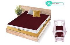 1st Step Supa - Dry Extra Absorbent Dry Sheet/Bed Protector/Mattress Protector (Maroon, Extra Large (157 * 220 cm))