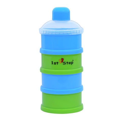 1st Step BPA Free Polypropylene 4-Tier Milk Powder Container- Blue
