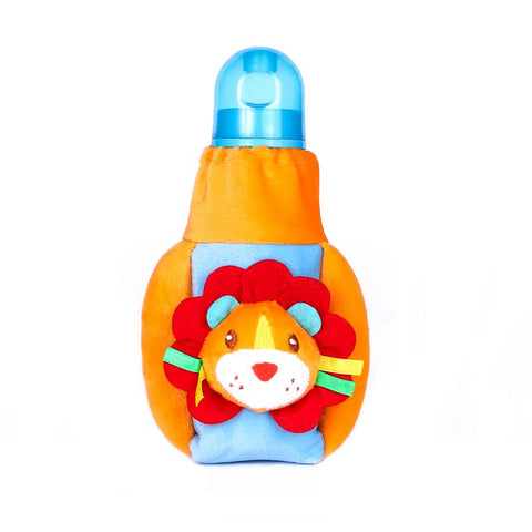 1st Plush Bottle Cover Lion Face Motif