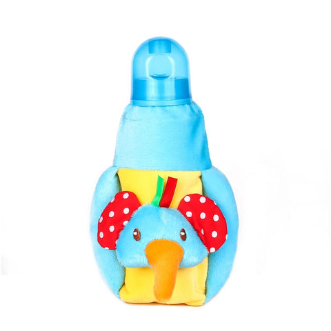 1st Plush Bottle Cover Elephant Face Motif