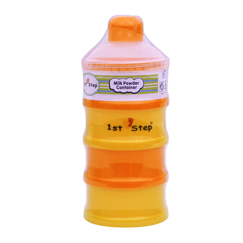 1st Step BPA Free Polypropylene 4-Tier Milk Powder Container- Orange