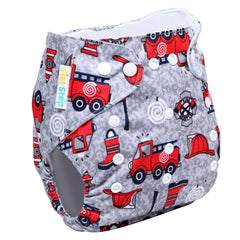 1st Step Size Free-size Adjustable, Washable and Reusable Diaper with Diaper Liner (Truck)
