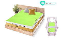 1st Step Supa - Dry Extra Absorbent Dry Sheet/Bed Protector/Mattress Protector (Green, Extra Large (157 * 220 cm))