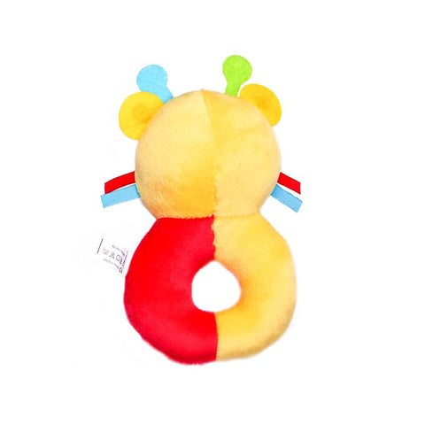 1st Step Catterpillar Face Soft Plush Ring Rattle Cum Toy