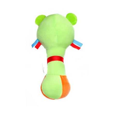 1st Step Dog Face Soft Plush Shaking Rattle Cum Toy