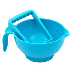1st Step Portable Grinding Feeding Masher/Serving Bowl for Baby Food Preparation with Spoon - Blue
