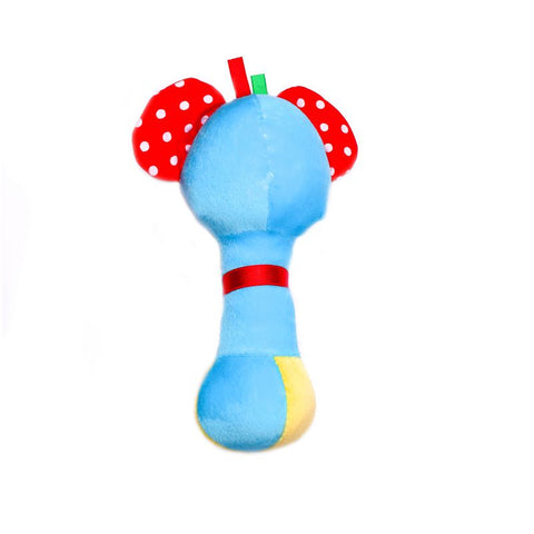 1st Step Elephant Face Soft Plush Shaking Rattle Cum Toy