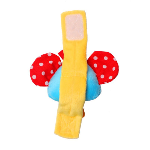 1st Step Elephant Face Soft Plush Wrist Rattle Cum Toy